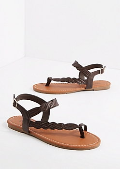 Brown Braided Sandal