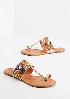 Beaded Toe Ring Sandal