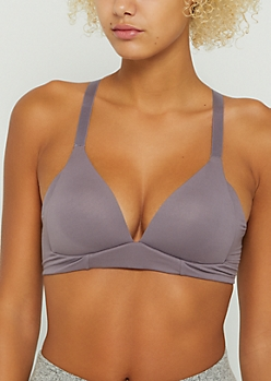 Lavender Cross Back Lounge Bra