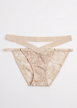 Nude Lace Caged Bikini Undie