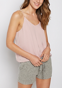 Pink Challis Woven Cami