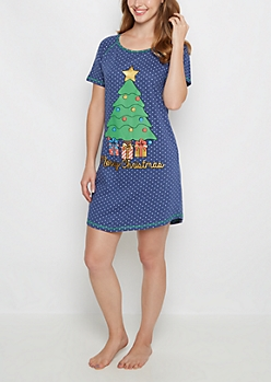 Merry Christmas Polka Dot Sleep Shirt