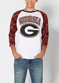 Georgia Bulldogs Baseball Tee