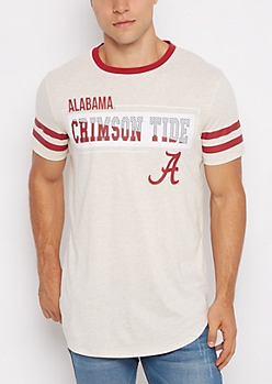 Alabama Crimson Tide Football Ringer Tee