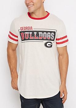 Georgia Bulldogs Football Ringer Tee
