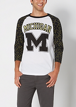 Michigan Wolverines Baseball Tee