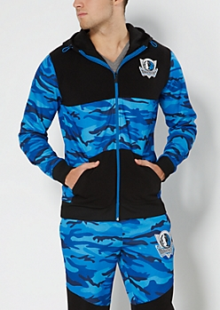 Dallas Mavericks Camo Zip-Down Hoodie