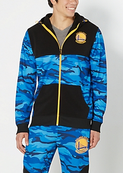 Golden State Warriors Camo Zip-Down Hoodie