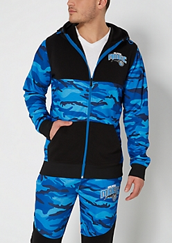 Orlando Magic Camo Zip-Down Hoodie