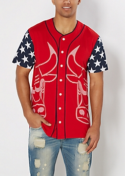 Chicago Bulls Star Spangled Baseball Jersey