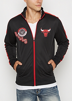 Black Chicago Bulls Patched Track Jacket
