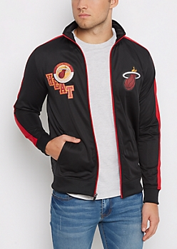 Miami Heat Patched Track Jacket