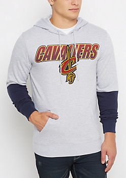 Cleveland Cavaliers Color Block Fleece Hoodie