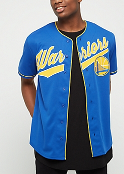 Golden State Warriors Logo Baseball Jersey