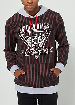 Chicago Bulls Pinstriped Contrast Hoodie