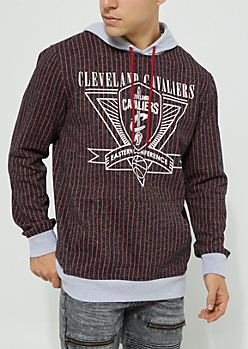 Cleveland Cavaliers Pinstriped Contrast Hoodie