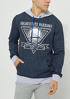 Golden State Warriors Pinstriped Contrast Hoodie