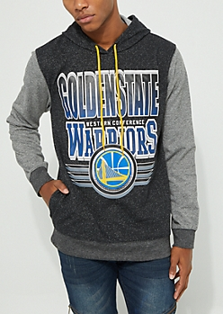 Golden State Warriors Marled Contrast Sleeve Hoodie