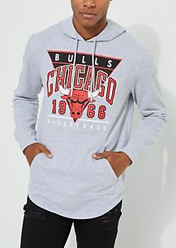 Chicago Bulls Gray Fleece Hoodie