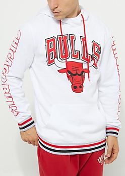 Chicago Bulls Striped Fleece Hoodie