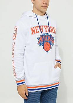 New York Knicks Striped Fleece Hoodie