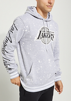 Los Angeles Lakers Paint Splattered Hoodie