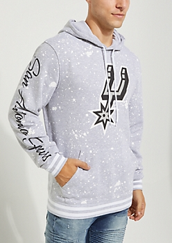 San Antonio Spurs Paint Splattered Hoodie