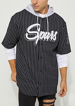 San Antonio Spurs Hooded Baseball Jersey