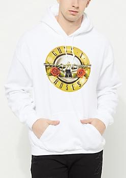 White Guns N Roses Hoodie