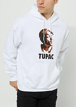 Tupac White Vintage Hoodie
