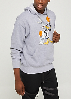 Bugs & Daffy Fleece Lined Hoodie