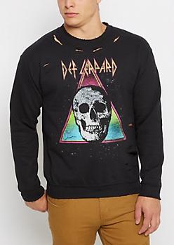 Def Leppard Ripped Sweatshirt