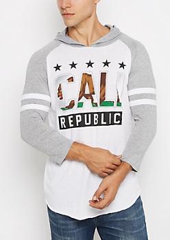 Cali Republic Hooded Raglan Tee