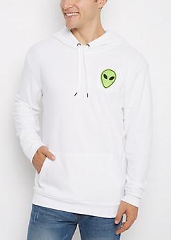 Alien Patch Reversed Fleece Hoodie