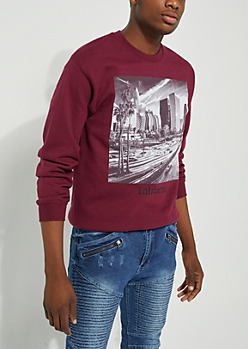 California Burgundy Sweatshirt