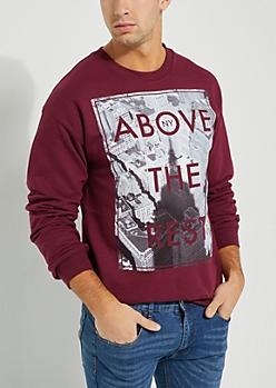 Above The Rest Burgundy Sweatshirt