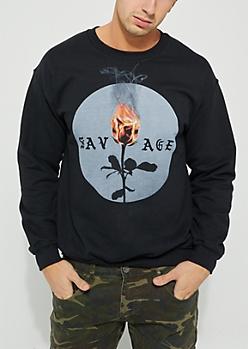 Savage Burning Rose Sweatshirt