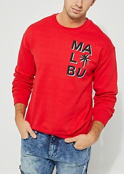 Red Malibu Sweatshirt