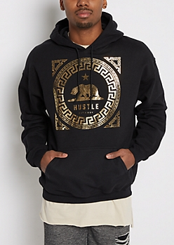 California Hustle Crackled Foil Hoodie