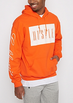 Orange Hustle Fleece Hoodie