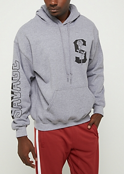 Savage Rose Fleece Hoodie