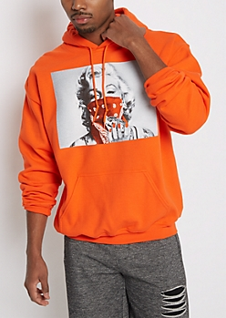 Orange Marilyn Thief Fleece Hoodie