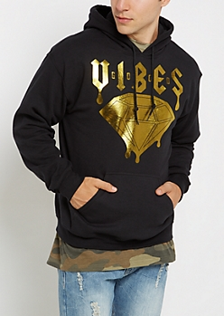 Foil Dripped Good Vibes Hoodie