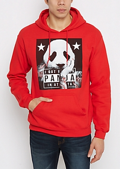 Tatted Panda Fleece Hoodie