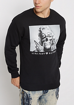 Live Fast Marilyn Fleece Sweatshirt