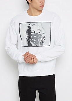 Marilyn Bandana Fleece Sweatshirt
