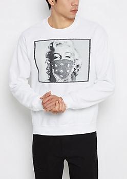 Marilyn Bandana Fleece Sweatshirt
