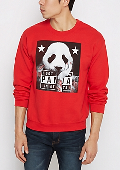 Tatted Panda Fleece Sweatshirt