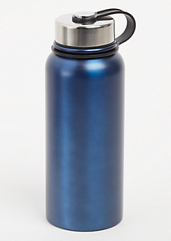 Navy Twist Top Stainless Steel Bottle