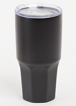 Black Insulated Metal Tumbler
